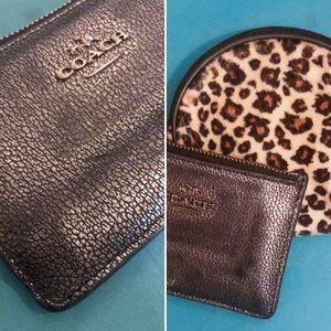 Coach | Mini Wallet | Mini Cheetah print pouch